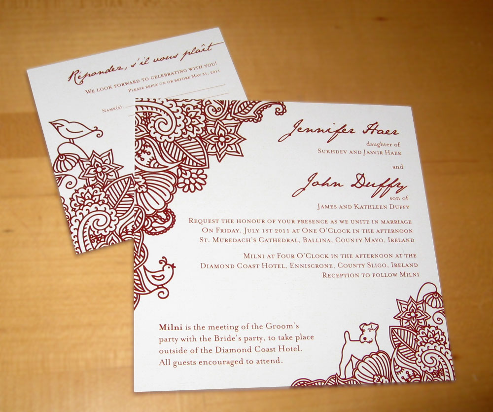 International wedding invites