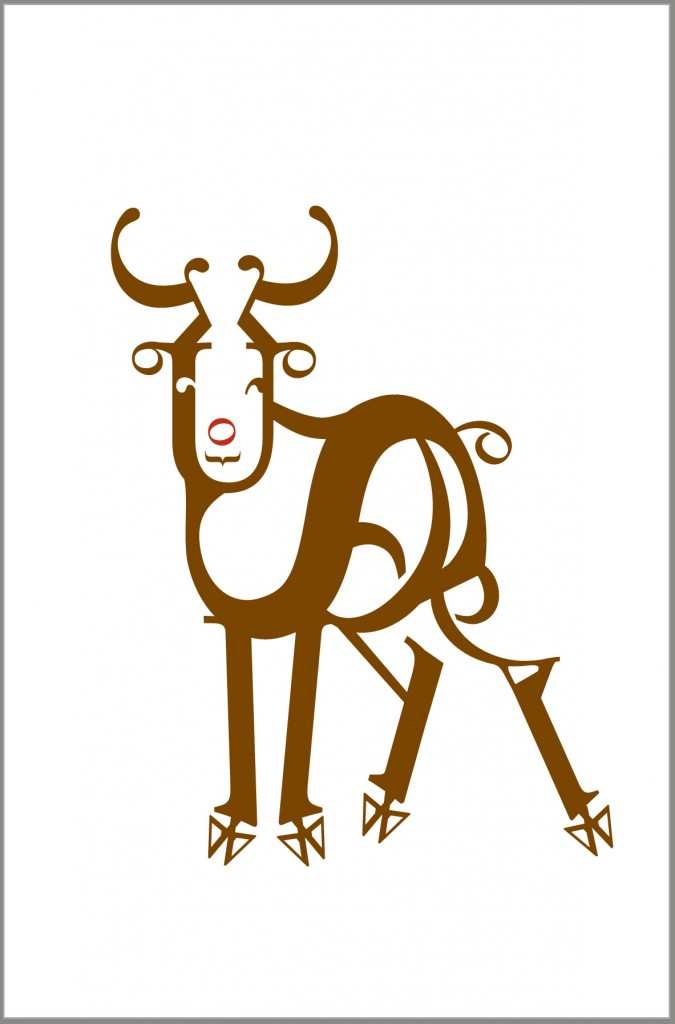 Typographic reindeer, the first year
