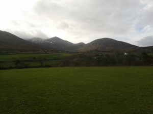 The gorgeous rural scenery of County Kerry where HUG is based, in between rain showers.